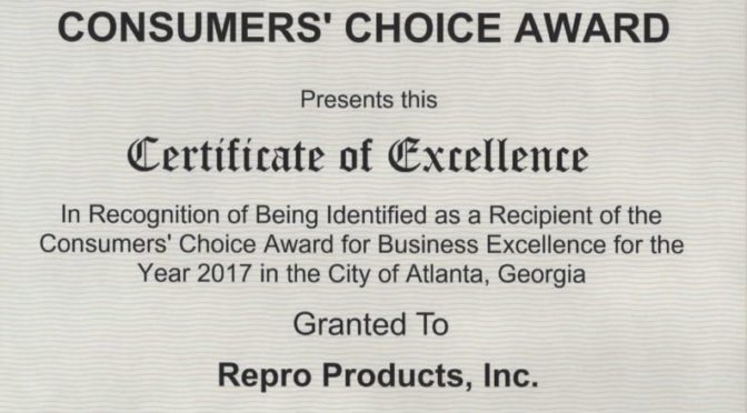 2017 Consumer's Choice Award