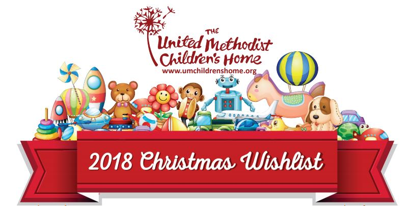 2018 United Methodist Children't Home Wish list