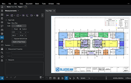 Measurement tool image - Bluebeam 20